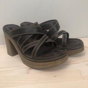 Vintage Bongo Platform Strappy Sandal